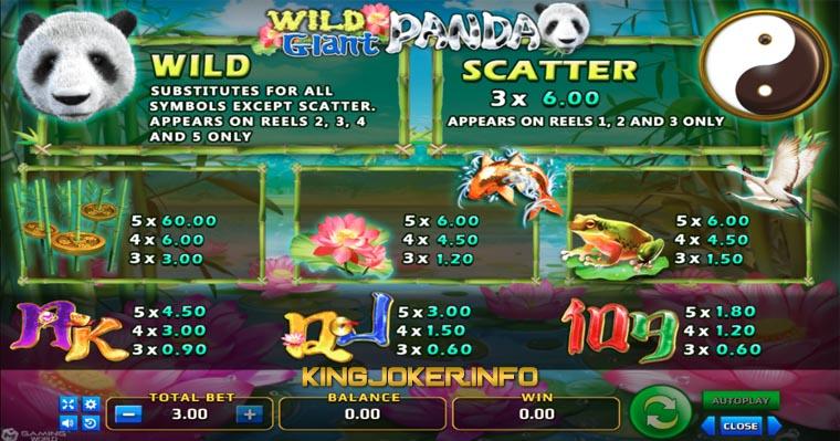 Payout Wild Giant Panda